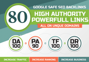 MANUALLY 80 UNIQUE PR10 SEO BackIinks on DA100 sites