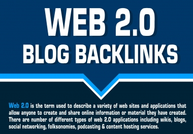 Provide Unique 16 Web 2.0 blogs backlinks