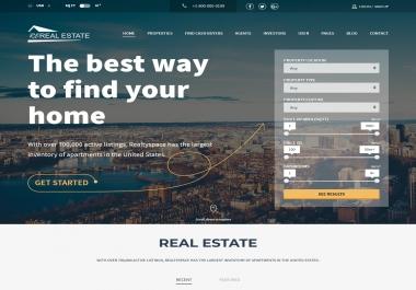 Real Estate Website + Domain Name ReReal.Estate