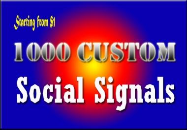 1000 Top Custom Social Signals from PR9 Sites