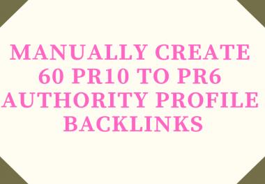 Manually Create 60 Pr10 To Pr6 Authority Profile Backlinks