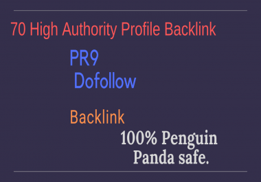 Give You 70 Dofollow Profile Backlinks