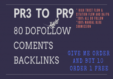 80 Pr3 To Pr9 Do Follow Blog Comments