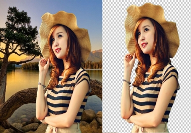 100 photos remove background with Photoshop