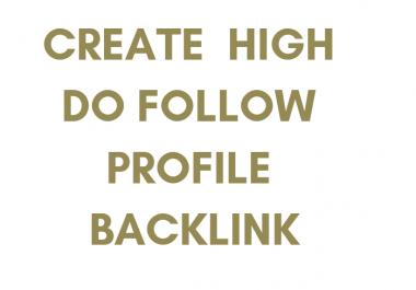 Create High Authority Do Follow Profile Backlink