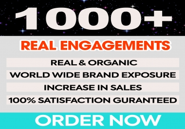 Provide 1000 Real Engagements