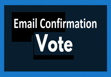 Possible 40 registration with email confirmation votes poll