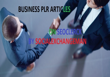give you 2700 busines plr articles and up to 25000 keywords