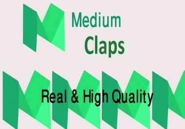 Get it 500 Medium Claps To Your Post