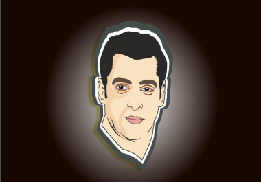 Draw  a vector art of your Your Photo As A Cartoon Caricature Minimalist Avatar
