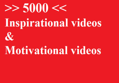Motivational videos and inspirational videos for social media