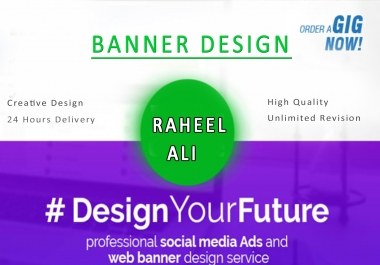 design a fabulous banner ads for you