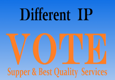 provide you to get 200 genuine IP votes poll by real people