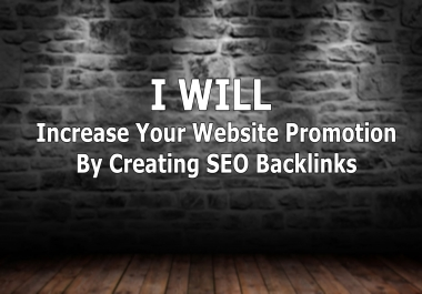 increase your website promotion by creating SEO backlinks