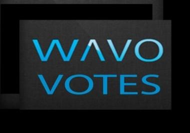 get it 50 wavo votes for your WAVO. ME Contest
