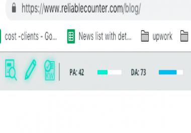 Buy Guest Blogging services at DA 73 website
