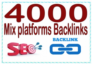 Rank on Google Alexa by exclusive 4000  Mix platforms backlinks