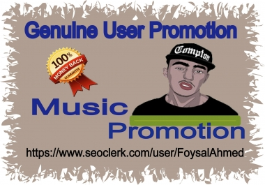 Music Promotion 45k Music Listening & Other Promotion For Your Music Track
