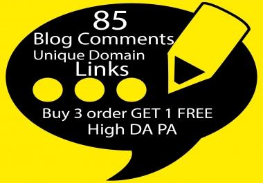 I Will Build 85 Unique Domain SEO Backlinks On High TF DA Sites