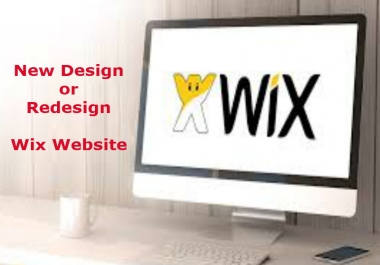 design or redesign wix website-1 page