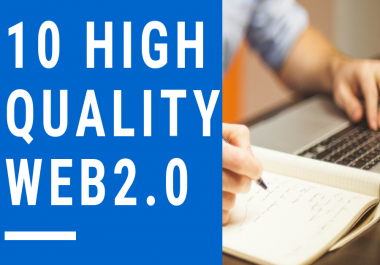 Create 10 High Quality Web2.0 Backlinks