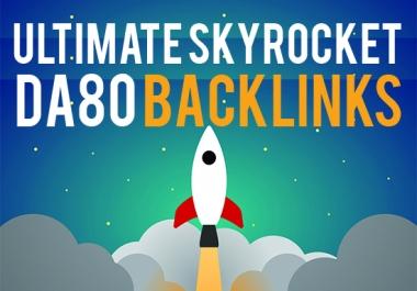 Improvde Ranking with15 backlinks on DA80 to DA90 sites