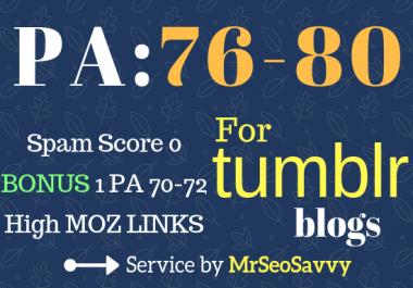 GET 2 Expired PA 76-80 Tumblr Blogs + Bonus