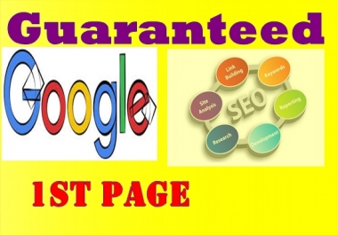 Guaranteed Google First Page Ranking Service in top 3