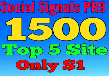 1500 SEO Social Signals Top 5 site Help To Website Traffic And Google Ranking