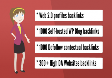 Get you 1,000 web 2.0 HQ backlinks, organic promotion, social promotion