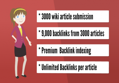 Get 3,000 Wiki Articles submission, massive promotion for traffic, PR9 Social signals