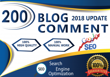 I Manual Work 200 Dofollow Blog Comments Seo Backlinks
