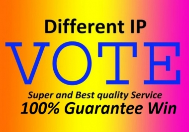 Provide 200 genuine IP votes by real people on your contest