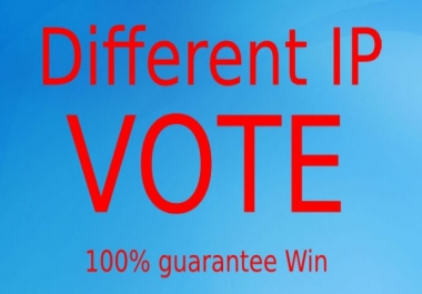 Get Amazing 200 Different IP's Online votes