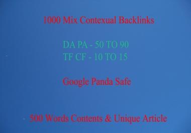1000 live contextual backlinks for seo