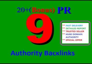 20 High PR profile backlinks Create for your Website