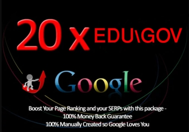USA and mix based High quality edu/gov Service boost your site on google