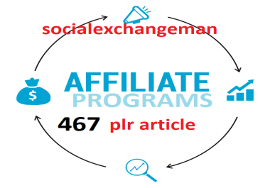 give you 467 Affiliate Programs plr articles and up to 2500 keywords