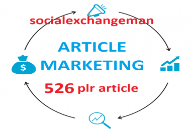give you 526 Article Marketing plr articles and up to 4000 keywords