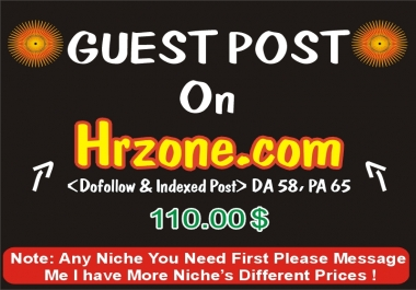 Publish a Guest post on hrzone.com