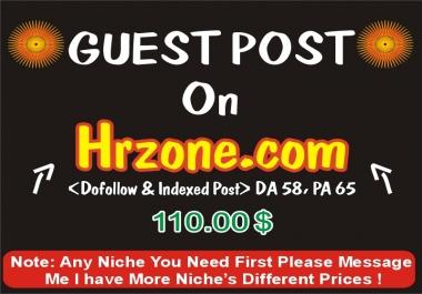 Publish a Guest post on hrzone.com