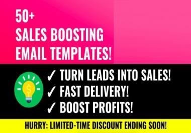 Send 50 Sales Email Copy Templates