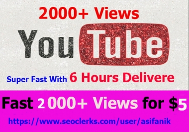 NON-DROP & HIGH QUALITY YOUTUBE PROMOTION in 6 hours