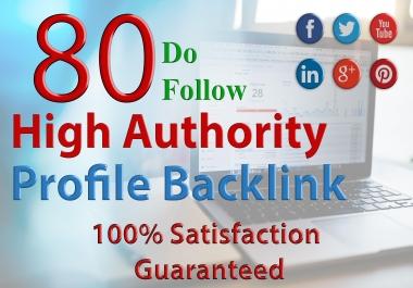 Create 80 High PR Profile Backlink
