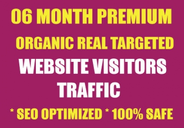 "SIX Month ""ULTRA PREMIUM"" Niche Targeted Unlimited Traffic to Website"