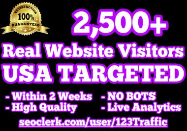 2,500 USA TARGETED Website Traffic