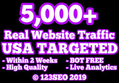 5,000 USA TARGETED Website Traffic