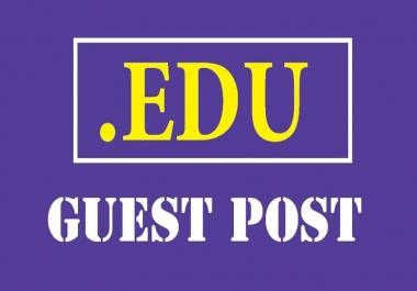 3X EDU Guest Post With Dofollow Backlinks DA60-90+