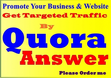 I will drive web traffic by high quality qa answer