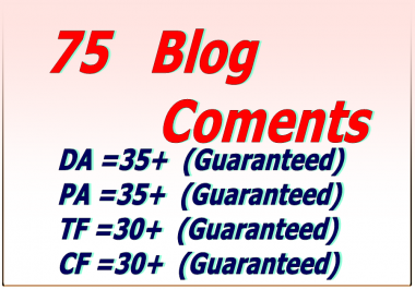 Do 20  high & DA PA Blog Comments